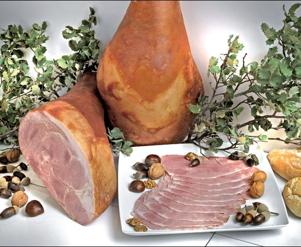 latin's gusto grossiste rungis paris Jambon Roti desossé avec crosse charcuterie espagnole cuit