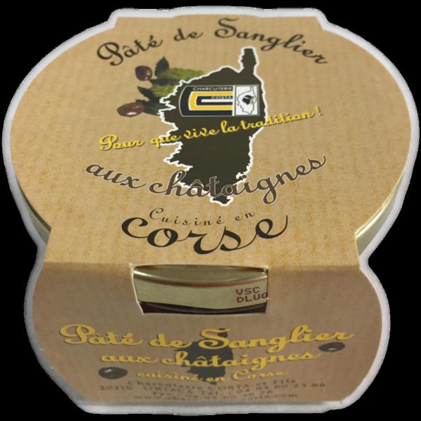 latin's gusto grossiste rungis paris corse charcuterie costa conserve bocaux PATE DE SANGLIER AUX CHATAIGNES 180 GRS