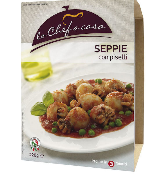 Latin's Gusto grossiste rungis paris France Italie Epicerie Italienne plats cuisinés PETITS POULPES EN SAUCE TOMATE 220 GRS LO CHEF A CASA