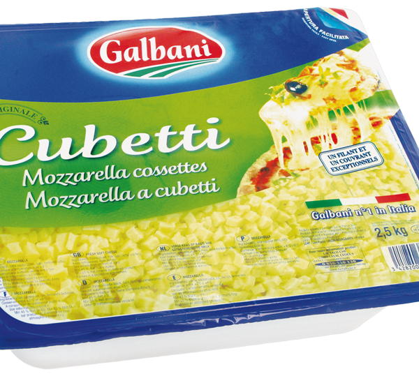 latin's gusto grossiste rungis paris Mozzarella Cubetti cossettes bac 2,5kgs galbani fromage italien vache
