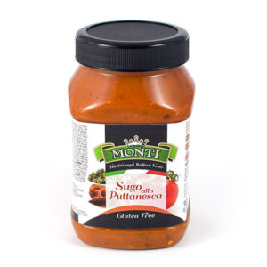 latin's gusto grossiste rungis paris Italie, Epicerie italienne, Sauces SAUCE TOMATE PUTTANESCA 950 GRS MONTI