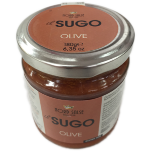 latin's gusto grossiste rungis paris Italie, Epicerie italienne, Sauces SAUCE TOMATE AUX OLIVES 180 GRS NORD SALSE