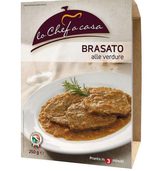 Latin's Gusto grossiste rungis paris France Italie Epicerie Italienne plats cuisinés BŒUF BRAISE AVEC LEGUMES 250 GRS LO CHEF A CASA