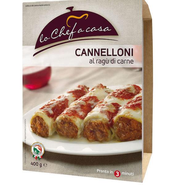 Latin's Gusto grossiste rungis paris France Italie Epicerie Italienne plats cuisinés CANNELLONI A LA VIANDE 400 GRS LO CHEF A CASA