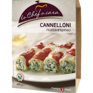 Latin's Gusto grossiste rungis paris France Italie Epicerie Italienne plats cuisinés CANNELLONI RICOTTA EPINARD 400 GRS LO CHEF A CASA
