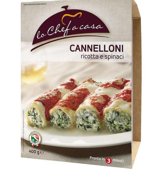 Latin's Gusto grossiste rungis paris France Italie Epicerie Italienne plats cuisinés CANNELLONI RICOTTA EPINARD 400 GRS LO CHEF A CASA