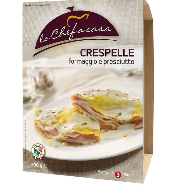 Latin's Gusto grossiste rungis paris France Italie Epicerie Italienne plats cuisinés CREPES FROMAGE ET JAMBON CUIT 300 GRS LO CHEF A CASA