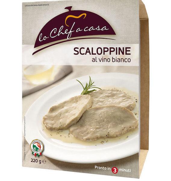 Latin's Gusto grossiste rungis paris France Italie Epicerie Italienne plats cuisinés ESCALOPE DE PORC AU VIN BLANC 220 GRS LO CHEF A CASA