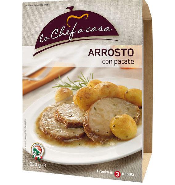 Latin's Gusto grossiste rungis paris France Italie Epicerie Italienne plats cuisinés ROTI DE DINDE ET POMME DE TERRE 250 GRS LO CHEF A CASA