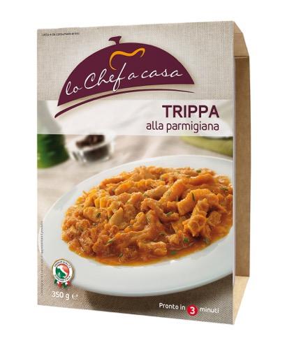 Latin's Gusto grossiste rungis paris France Italie Epicerie Italienne plats cuisinés TRIPES A LA PARMIGIANA 350 GRS LO CHEF A CASA
