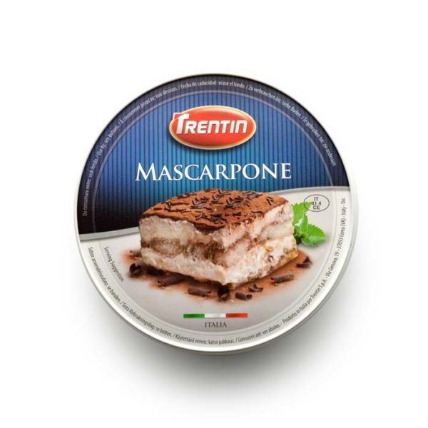 Latin's Gusto grossiste Rungis Paris Italie, Fromages, lait de vache, MASCARPONE 500 GRS TRENTIN