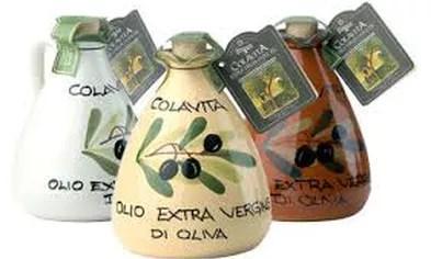 latin's gusto grossiste distributeur rungis paris huile d olive colavita 25 cl 100 % italienne ceramique ceramic igp italie