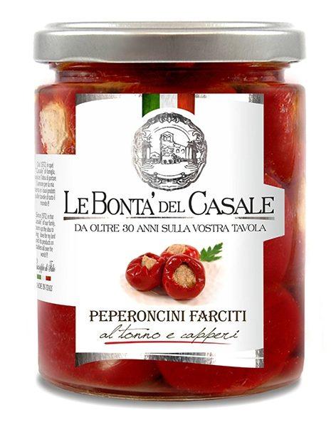 latin's gusto grossiste rungis paris bocaux huile conserve antipasti italie PETITS PIMENTS AU THON 314 ML